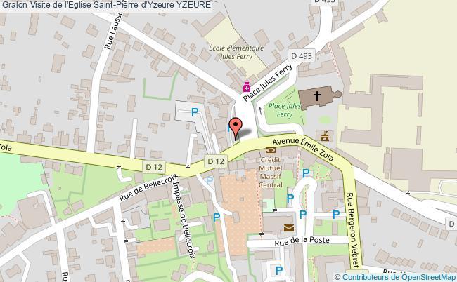 plan Visite De L'eglise Saint-pierre D'yzeure Yzeure