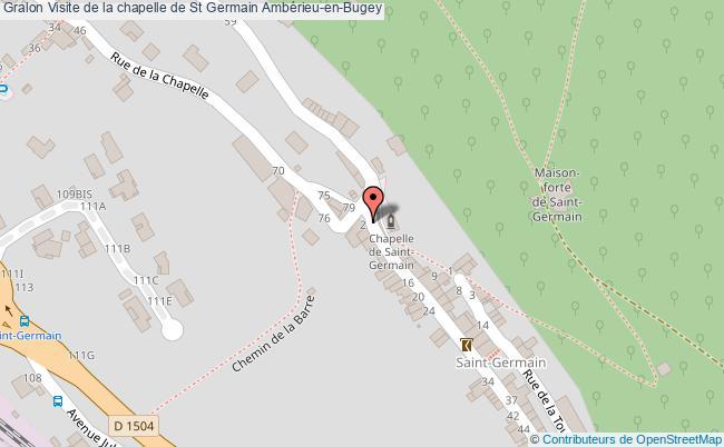 plan Visite De La Chapelle De St Germain Ambérieu-en-bugey