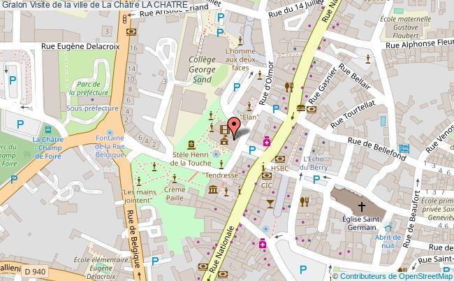 plan Visite De La Ville De La Châtre La Chatre