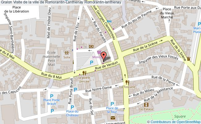 plan Visite De La Ville De Romorantin-lanthenay Romorantin-lanthenay