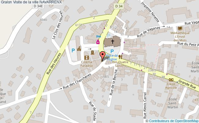 plan association Visite De La Ville Navarrenx NAVARRENX