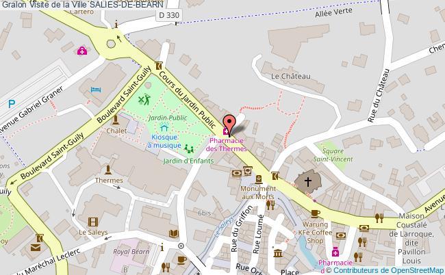 plan Visite De La Ville Salies-de-bearn