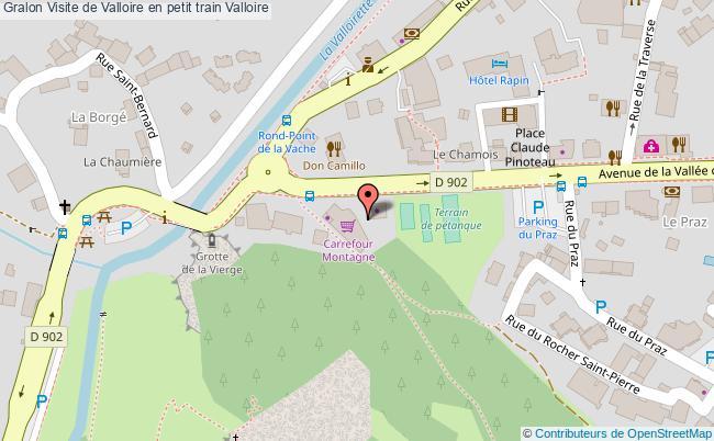 plan association Visite De Valloire En Petit Train Valloire Valloire