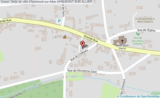 plan Visite De Ville D'apremont Sur Allier Apremont-sur-allier