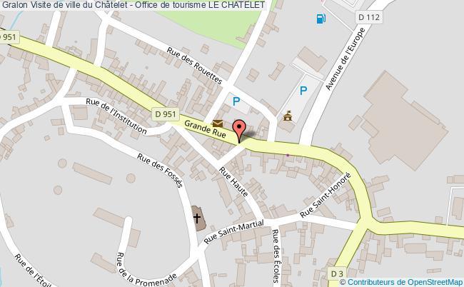 plan Visite De Ville Du Châtelet - Office De Tourisme Le Chatelet