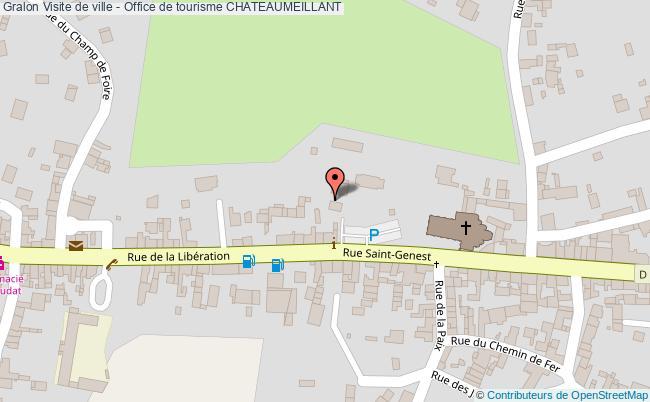 plan association Visite De Ville - Office De Tourisme Chateaumeillant CHATEAUMEILLANT