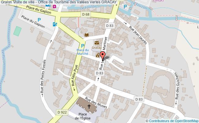 plan association Visite De Ville - Office De Tourisme Des Vallées Vertes Gracay GRACAY