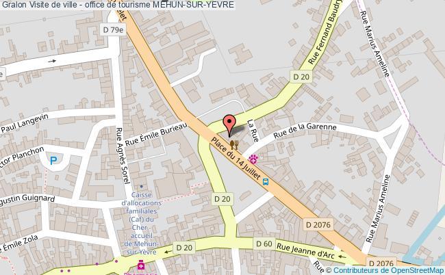 plan association Visite De Ville - Office De Tourisme Mehun-sur-yevre MEHUN-SUR-YEVRE