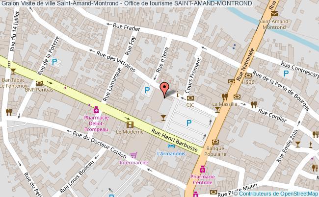 plan Visite De Ville Saint-amand-montrond - Office De Tourisme Saint-amand-montrond