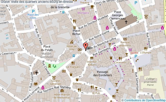 plan Visite Des Quartiers Anciens Bourg-en-bresse