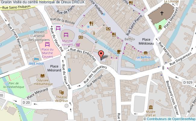 plan Visite Du Centre Historique De Dreux Dreux