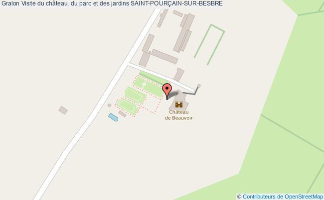 plan Visite Du Château, Du Parc Et Des Jardins Saint-pourÇain-sur-besbre