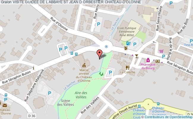 plan Visite Guidee De L Abbaye St Jean D Orbestier Chateau-d'olonne