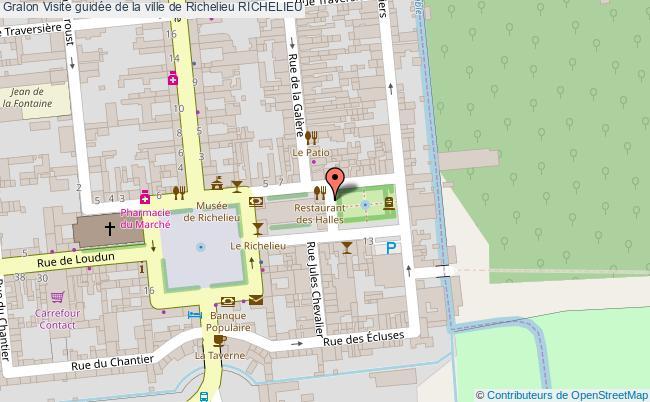 plan Visite Guidée De La Ville De Richelieu Richelieu
