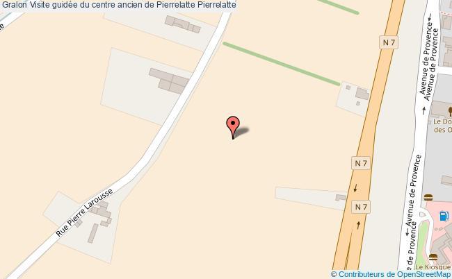plan association Visite Guidée Du Centre Ancien De Pierrelatte Pierrelatte Pierrelatte