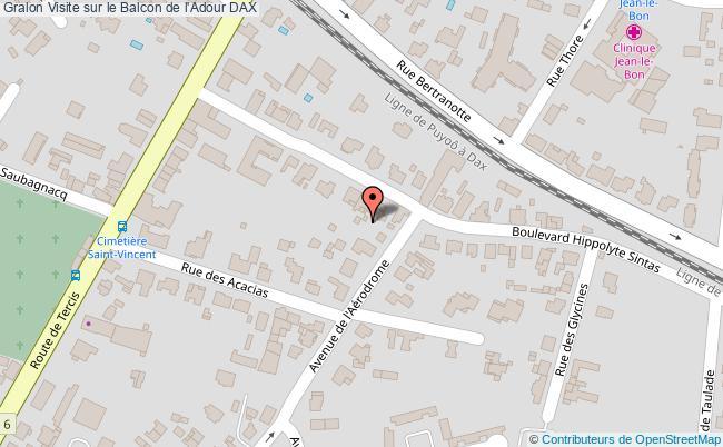plan association Visite Sur Le Balcon De L'adour Dax DAX