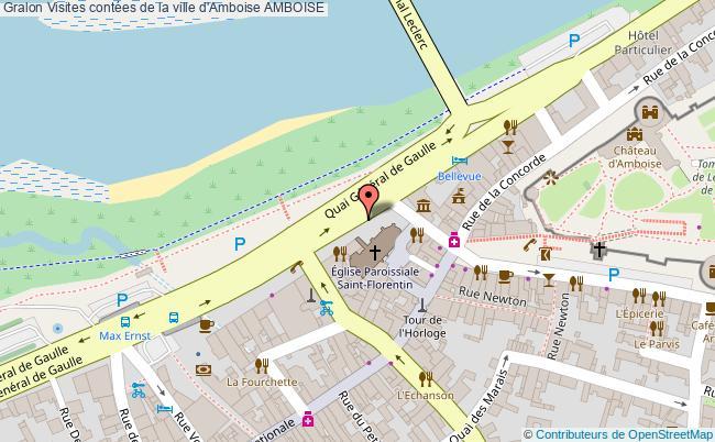 plan Visites Contées De La Ville D'amboise Amboise