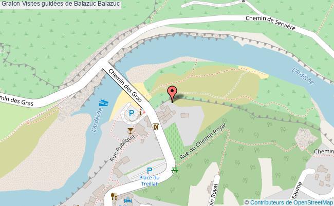 plan Visites Guidées De Balazuc Balazuc