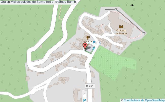 plan Visites Guidées De Banne Fort Et Château Banne