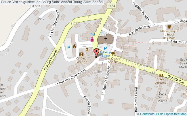 plan Visites Guidées De Bourg-saint-andéol Bourg-saint-andéol