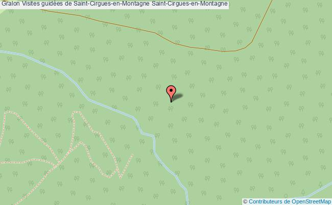 plan Visites Guidées De Saint-cirgues-en-montagne Saint-cirgues-en-montagne