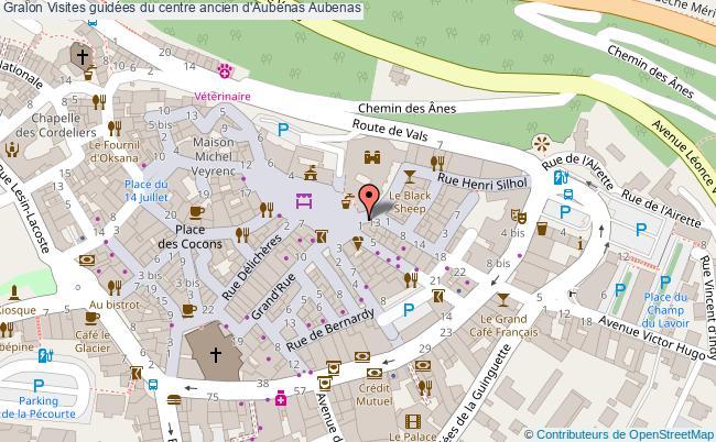 plan association Visites Guidées Du Centre Ancien D'aubenas Aubenas Aubenas