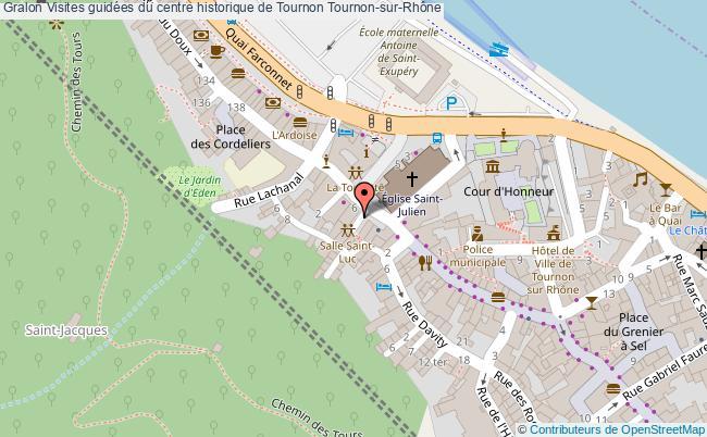 plan Visites Guidées Du Centre Historique De Tournon Tournon-sur-rhône