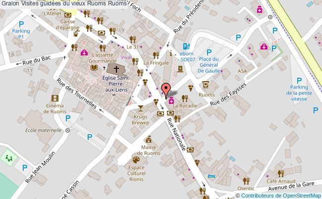 plan Visites Guidées Du Vieux Ruoms Ruoms