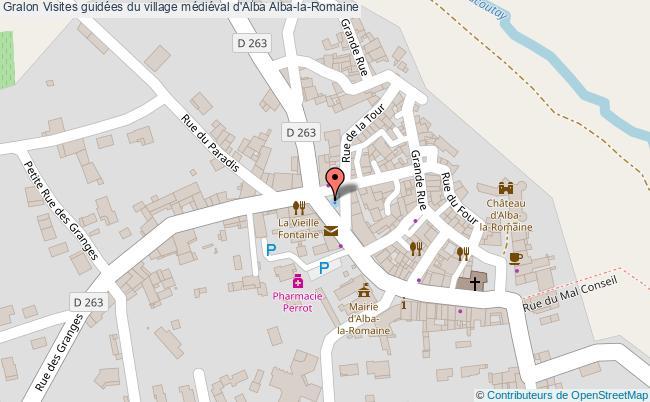 plan Visites Guidées Du Village Médiéval D'alba Alba-la-romaine