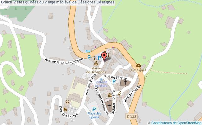 plan association Visites Guidées Du Village Médiéval De Désaignes Désaignes Désaignes