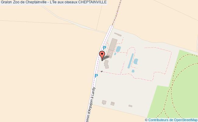 plan Zoo De Cheptainville - L'île Aux Oiseaux Cheptainville