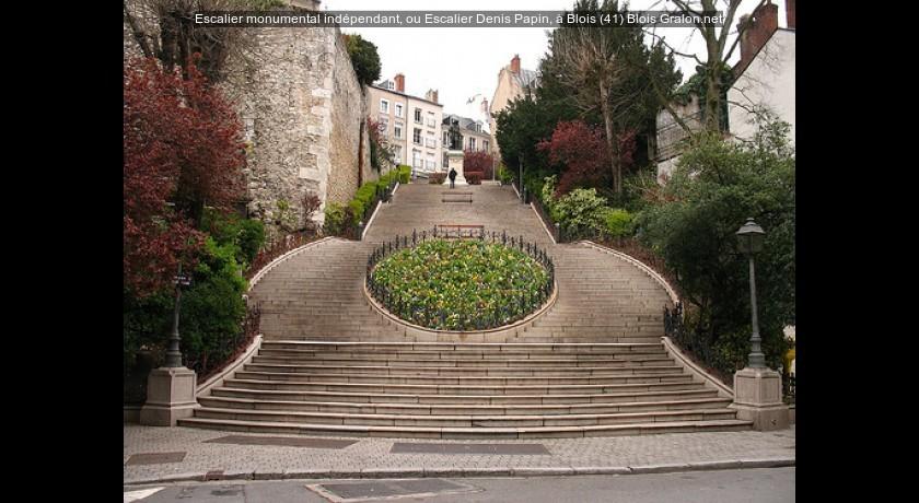 escalier monumental ind pendant ou escalier denis papin blois 41 blois tourisme. Black Bedroom Furniture Sets. Home Design Ideas